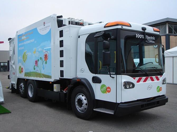 В Китае разработали электрический мусоровоз