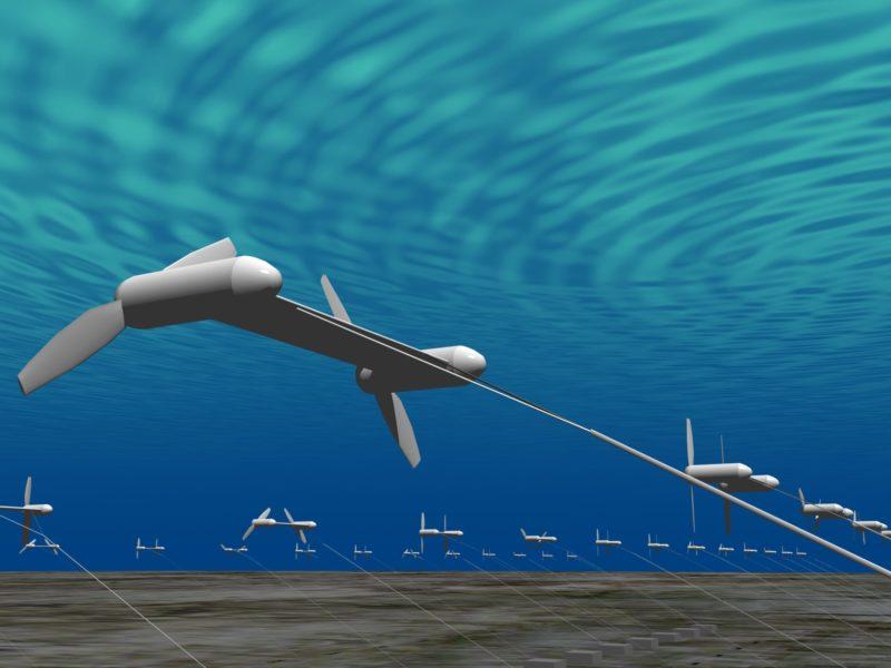 Ученые ЕС поручат воздушным змеям крутить турбины под водой