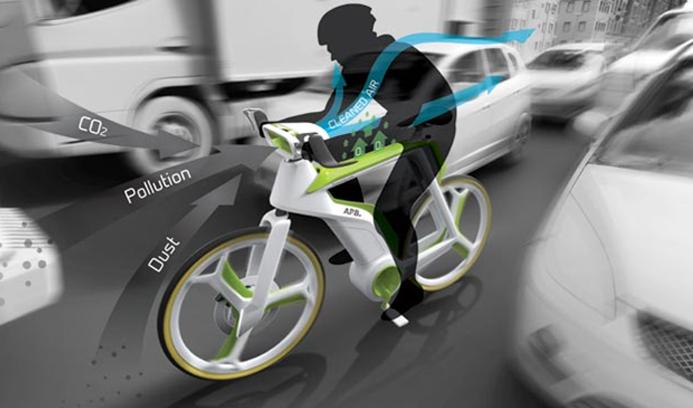 Велосипед, который очищает воздух