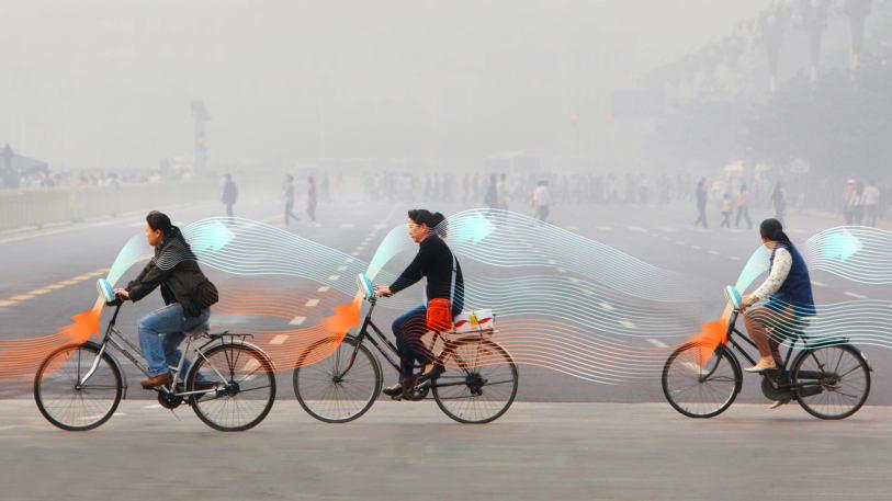 В Китае со смогом будут бороться 20 млн велосипедистов