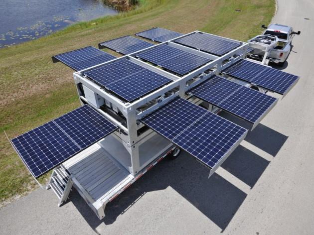 Водоочистная станция и солнечная установка в одном контейнере