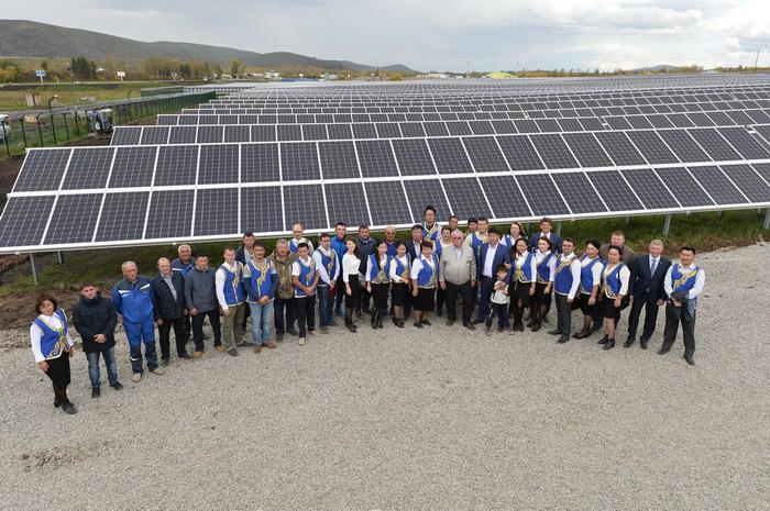 В Республике Алтай введена в эксплуатацию солнечная электростанция на модулях нового поколения