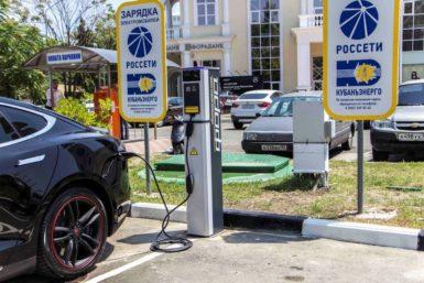 Россети построят в России сеть из почти 800 зарядных станций для электромобилей