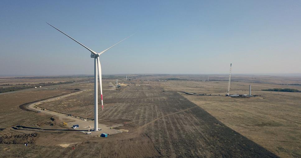 Каменская ветроэлектростанция введена в эксплуатацию