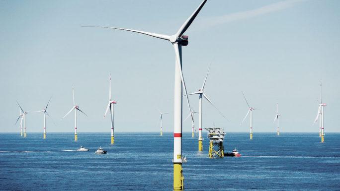 Ветряные турбины мощностью 13 МВт будут установлены в крупнейшем морском ветропарке