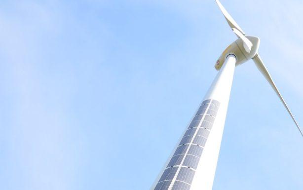 Как обшить солнечными панелями ветрогенератор придумала DAS Energy