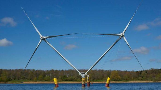 Двухтурбинный плавучий ветрогенератор прошел испытания на немецком побережье Балтийского моря