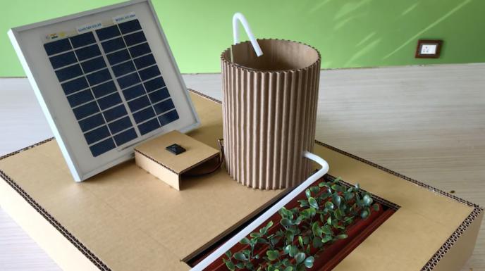 Полив с использованием солнечной энергии - простая модель доступная для каждого (Видео)