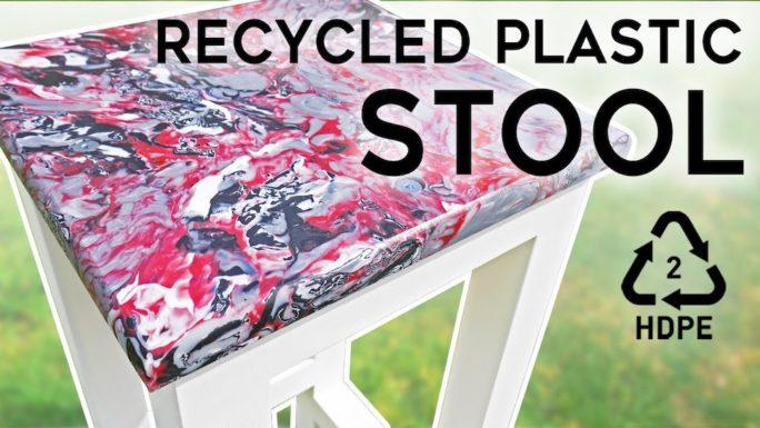Табурет из переработанного пластика своими руками - Мебель из HDPE! (Видео)