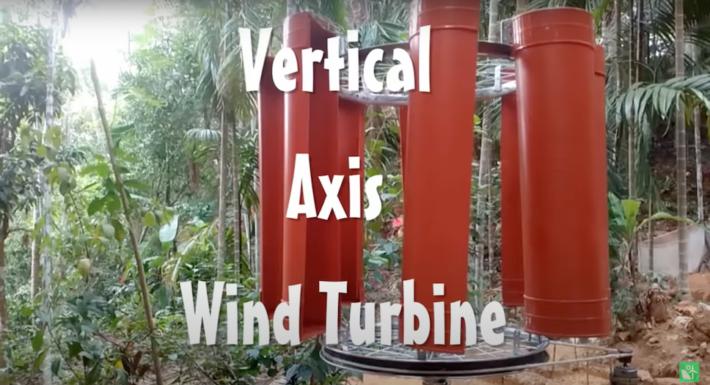 Как изготовить ветряную турбину с вертикальной осью в домашних условиях (Видео)