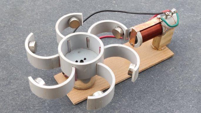 Генератор свободной энергии, использующий активность неодимового магнита